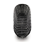 Tablecraft 2413 Handwoven Basket, 13 x 5 x 3-in, Polypropylene Cord, Oblong, Black