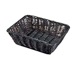 Tablecraft 2472 Handwoven Basket 9 x 6 x 2-1/2-in Polypropylene Cord, Oval, Black