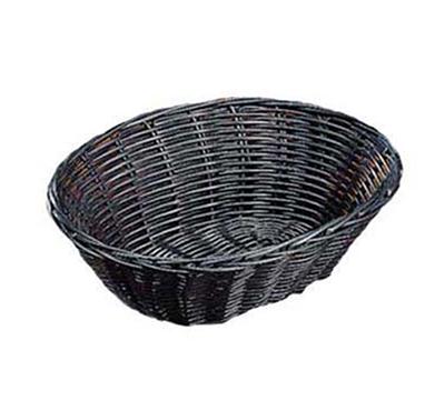 "Tablecraft 2474 Handwoven Basket, 9 x 6 x 2-1/2"", Polypropylene Cord, Black"