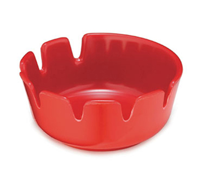 Tablecraft 265R-1 Classic Deepwell Ashtray, 4-1/4 x 1-3/4-in, Red Melamine