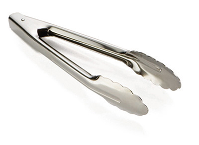 Tablecraft 2774 10-in Stainless Steel Utility Tong w/ Heavyweight 1.2-mm