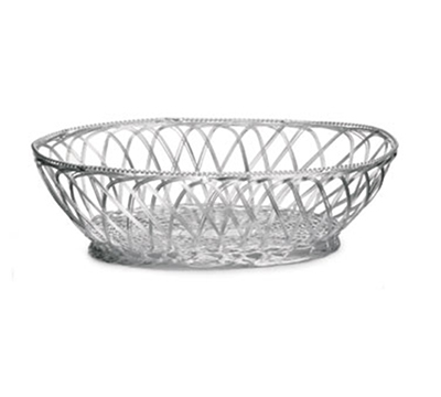 Tablecraft 3174 Oval Victorian Basket, 9 x 6-3/4 x 2-3/4-in, Silver Plated