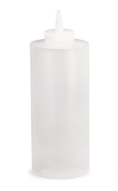 Tablecraft 32C 32-oz Squeeze Dispenser, Polyethylene, Natural Top, Natural
