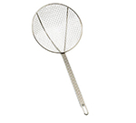 "Tablecraft 3309 9"" Round Skimmer w/ Square Mesh, Nickel Plated"