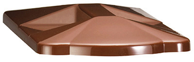 Tablecraft 354C Slimline Beverage Dispenser Cover, Brown, Fits 354 & TW54
