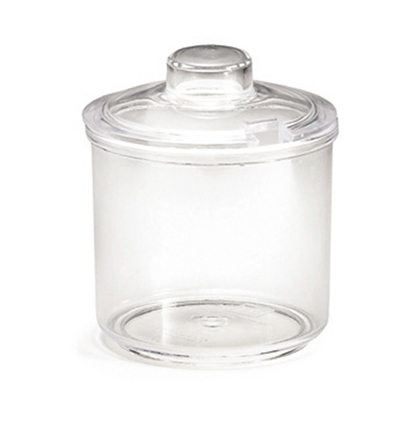 Tablecraft 355 7-oz Condiment Jar w/ Lid, Polycarbonate