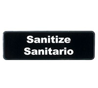 Tablecraft 394595 3 x 9-in Sign, Sanitize / Sanitario