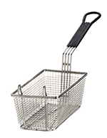 Tablecraft 426 Half Size Fryer Basket, Nickel Plated