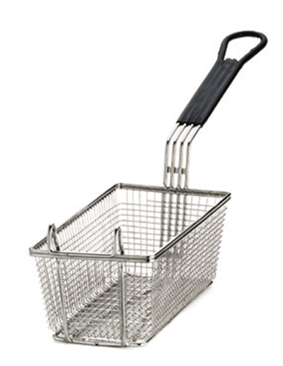 Tablecraft 426 Half Size Fryer Basket, Nickle Plated