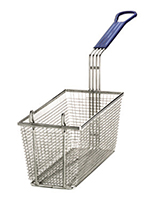 Tablecraft 428 Half Size Fryer Basket, Nickel Plated