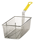 Tablecraft 429 Half Size Fryer Basket, Nickel Plated