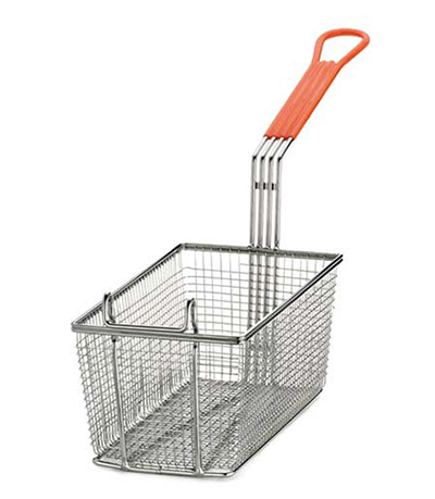 Tablecraft 43 Half Size Fryer Basket, Nickel Plated