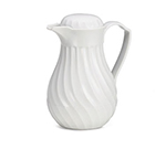 Tablecraft 447 64-oz Coffee Decanter w/ Color Tag Set, White Plastic Swirl