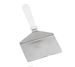 "Tablecraft 461W 11"" Turner w/ Squared Stainless Steel Blade, White ABS Handle"