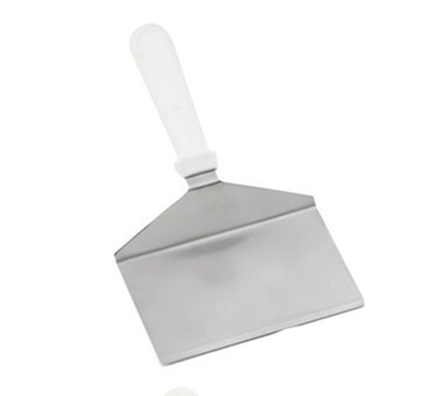 Tablecraft 461W 11-in Turner w/ Squared Stainless Steel Blade, White ABS Handle