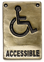 Tablecraft 465632 Sign, 4 x 6-in, Accessible, Antique Bronze, Heavyweight
