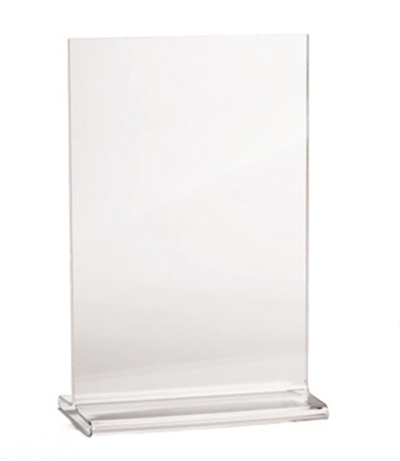 Tablecraft 5070 Acrylic Menu Holder, 5 x 7-in, Two-Sided
