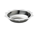 Tablecraft 536 Scalloped Stainless Steel Economy Ashtray, 5-1/2 x 3/4""