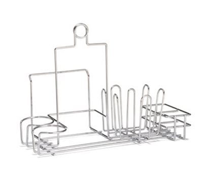 Tablecraft 5456112R Chrome Plated Metal Diner Rack w/ Menu Slot, Holds Sugar Packets