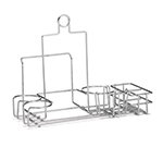 Tablecraft 5457112R Chrome Plated Metal Diner Rack w/ Two Squeeze Dispensers