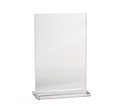 Tablecraft 5585 Acrylic Menu Holder, 5-1/2 x 8-1/2-in, Two-Sided