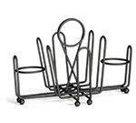 Tablecraft 591CBK Black Metal Combination Rack, Fits 1-5/8-in Salt/Pepper Shakers