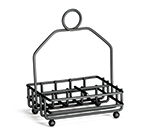 "Tablecraft 593RBK Black Metal Combination Rack, Fits 1-7/8"" Salt/Pepper Shakers"