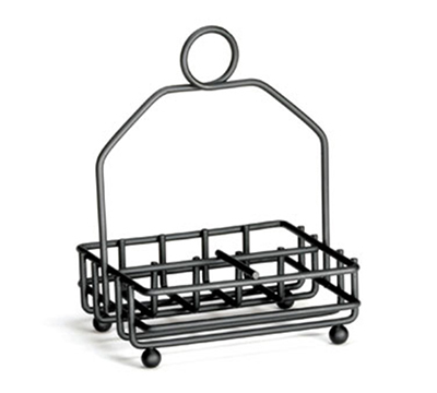 Tablecraft 593RBK Black Metal Combination Rack, Fits 1-7/8-in Salt/Pepper Shakers