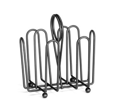 Tablecraft 597CBK Black Metal Jelly Packet Rack, Fits Packets Up To 2 x 1-1/2-in