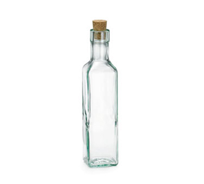 Tablecraft 6085 8-1/2-oz Square Glass Olive Oil Bottle
