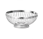 "Tablecraft 6170 Round Regent Basket, 8 x 3-1/4"", 18-8 Stainless Steel"