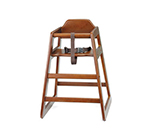 Tablecraft 66A Walnut Hardwood High Chair, 20 x 19 x 26-3/4-in, Assembled