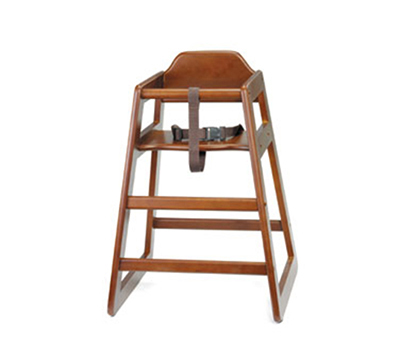 Tablecraft 66 Hardwood Walnut High Chair, Unassembled