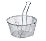 "Tablecraft 687 8.5"" Round Fryer Basket, Nickle Plated"