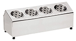 Tablecraft 7041 Stainless Steel Cylinder Holder w/ Four Holes, One-Tier