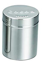 Tablecraft 755 6-oz Stainless Steel Coffee Shaker w/ Storage Lid for Cocoa