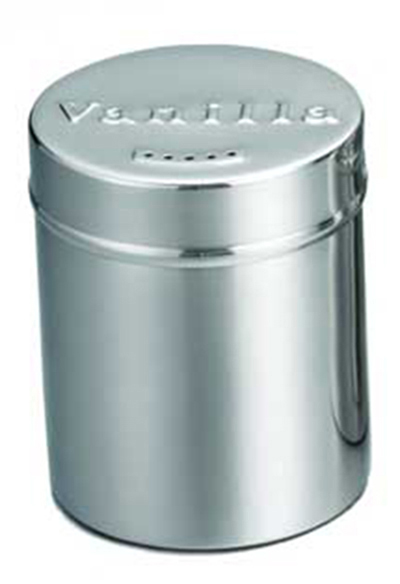 Tablecraft 757 6-oz Stainless Steel Coffee Shaker w/ Storage Lid For Vanilla