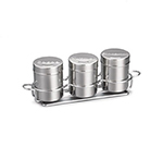 Tablecraft 758X 6-oz Coffee Shaker Set, Includes 3-Ring Chrome Plated Metal Rack