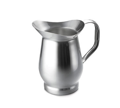 Tablecraft 802 2-1/8-Quart Stainless Steel Bell Water Pitcher w/ Base