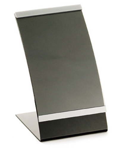 Tablecraft AS57 Acrylic Curved Menu Holder, 5-1/2 x 8-1/2""