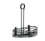 "Tablecraft BK159512 Black Powder Coated Metal Artisan Versa Rack w/ 4"" Front To Back"