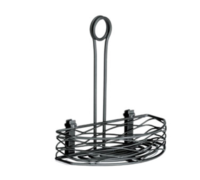 Tablecraft BK159512 Black Powder Coated Metal Artisan Versa Rack w/ 4-in Front To Back