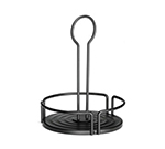 "Tablecraft BKDIA633 Black Powder Coated Metal Versa Rack w/ 6.33"" Inside Diameter"