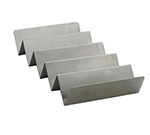 "Tablecraft BBQ48 Hot Dog/Taco Prep Tray - 11x4x2"" Stainless"