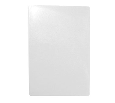 Tablecraft CB1520WA White Polyethylene Cutting Board, 15 x 20 x 1/2-in, NSF Approved