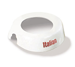 Tablecraft CM4 White Plastic Dispenser ID Collar w/ Maroon Print, Italian