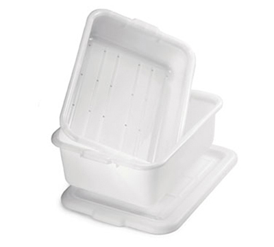 Tablecraft DBF1537 White Polyethylene Freezer Drain Box, 21.25 x 15.75 x 7-in