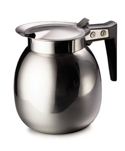 Tablecraft DD510 64-oz Stainless Steel Coffee Server w/ Black Handle