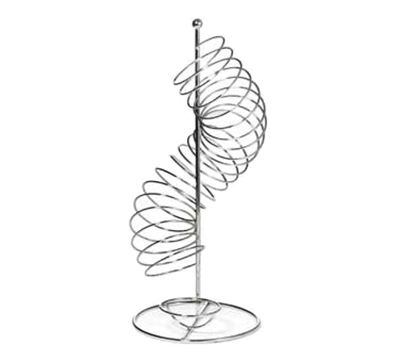 "Tablecraft FSP1507 Vertical Spiral Fruit Basket - 3-5/8x19"" Chrome"