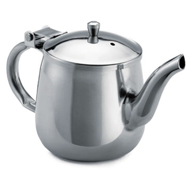 Tablecraft GN10 10-oz Stainless Steel Gooseneck Teapot w/ Mirror Finish